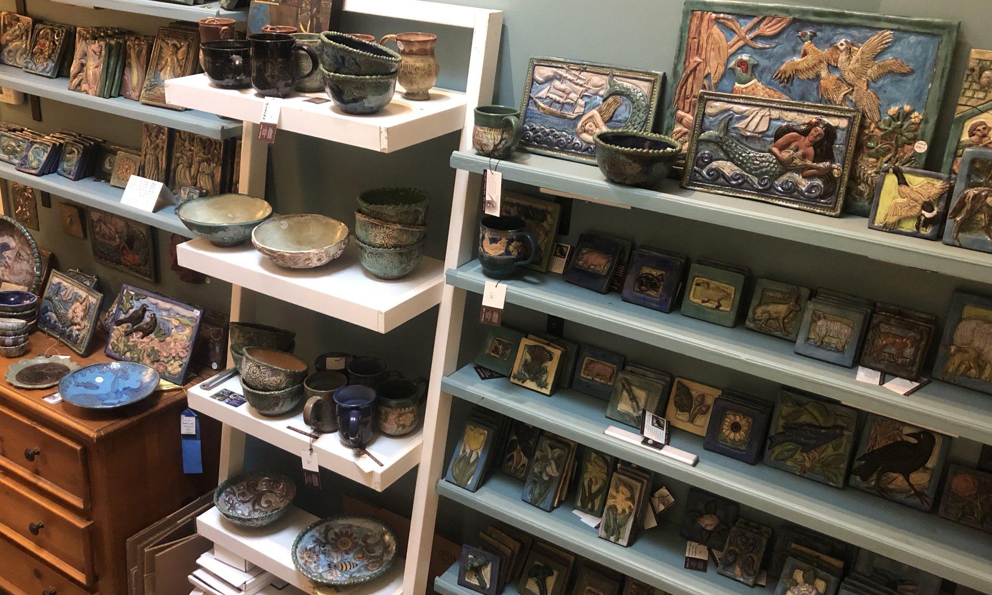 Folk Tiles and Folk Pottery by Heather Goff